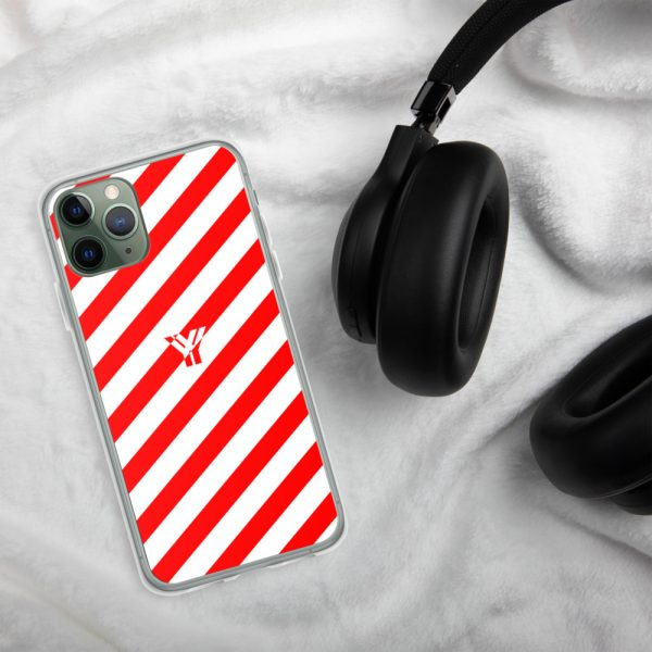 IPhone Hülle white and red collection OBVIOUS 4 mockup 9d787534