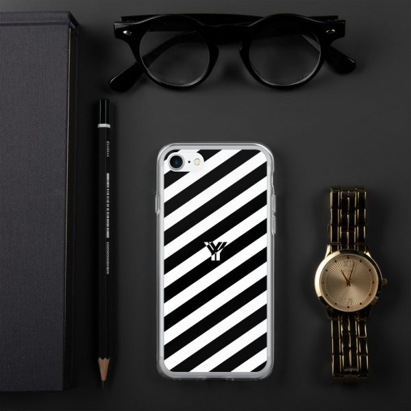 IPhone Hülle white and black collection OBVIOUS 18 mockup a4895972