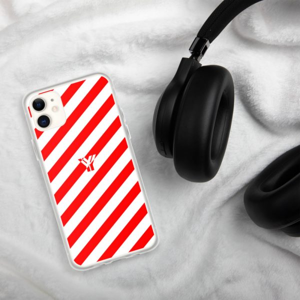 IPhone Hülle white and red collection OBVIOUS 1 mockup b10d5212