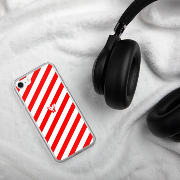 Antony Yorck • IPhone Hülle white and red • Collection OBVIOUS 19 mockup b9ff86ba