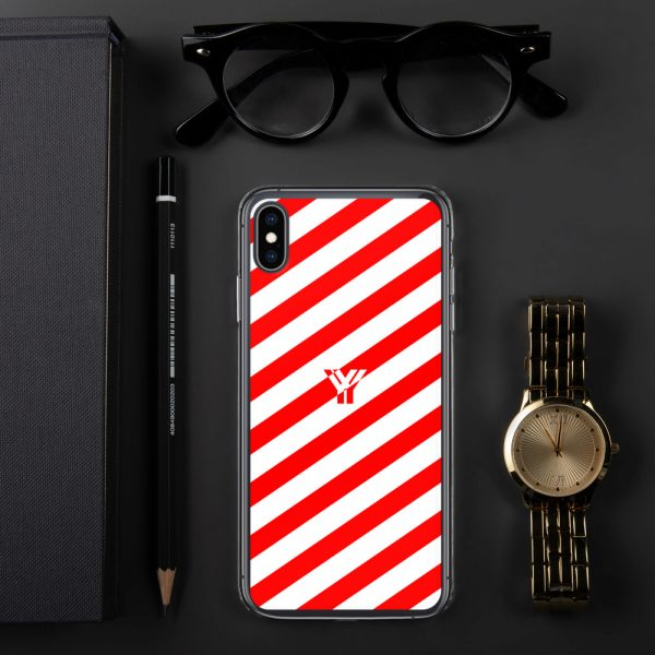 IPhone Hülle white and red collection OBVIOUS 30 mockup c42b5207