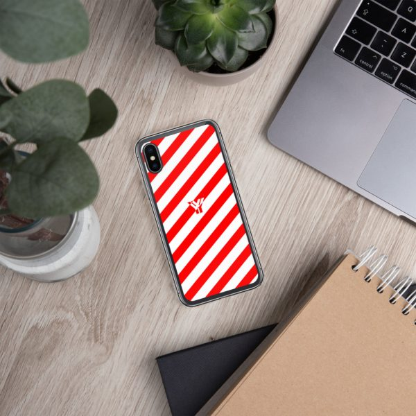 Antony Yorck • IPhone Hülle white and red • Collection OBVIOUS 26 mockup c8ec483d