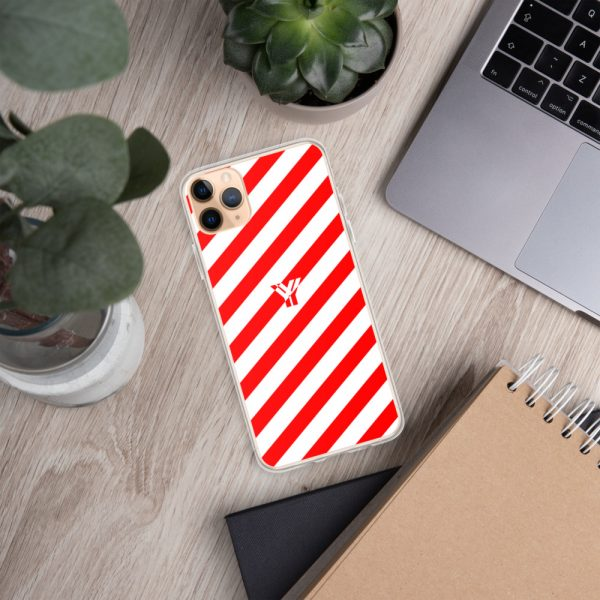 IPhone Hülle white and red collection OBVIOUS 8 mockup d80adabb