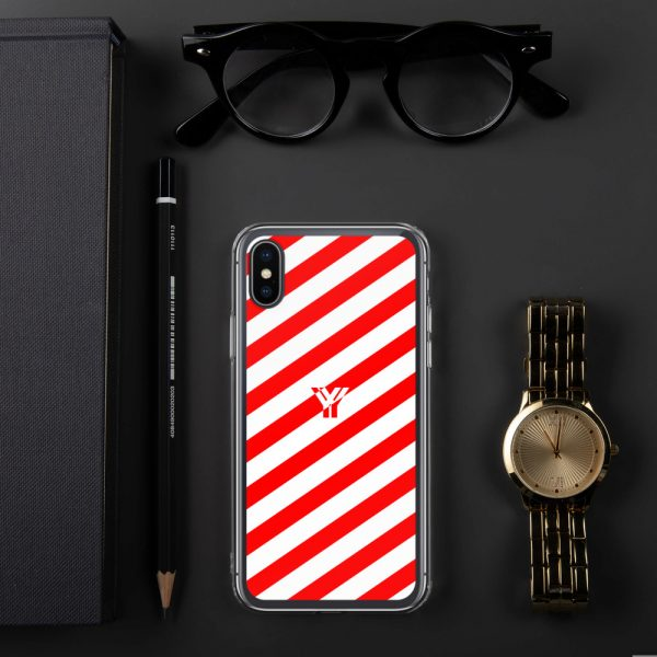IPhone Hülle white and red collection OBVIOUS 24 mockup e3c19c40