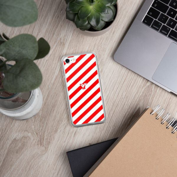 IPhone Hülle white and red collection OBVIOUS 23 mockup ead83b38