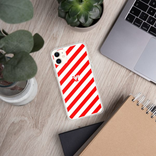 IPhone Hülle white and red collection OBVIOUS 2 mockup f7b036ca