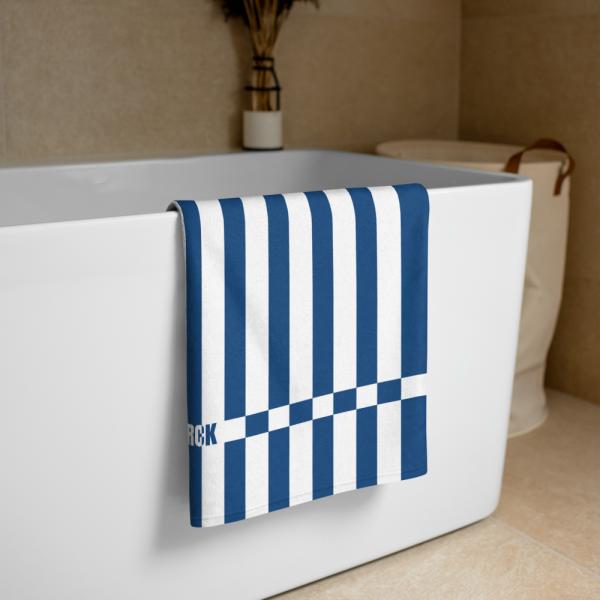 Strandtuch blau weiß gestreift collection OBVIOUS 2 antony yorck beach towel blanket badetuch strandtuch stripes classic blue white 0004