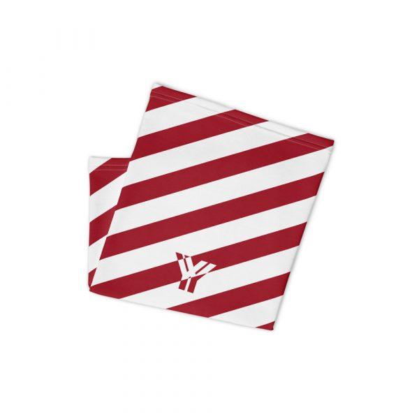 Antony Yorck • Multifunktionstuch cherry weiß schräg gestreift • collection OBVIOUS 3 antony yorck multifunktionstuch cherry rot weiss gestreift neck gaiter 0034