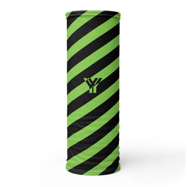Multifunktionstuch grün schwarz schräg gestreift 1 antony yorck multifunktionstuch gruen schwarz gestreift schlauchtuch streetwear 0014
