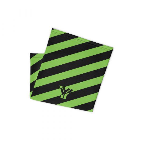 Multifunktionstuch grün schwarz schräg gestreift 2 antony yorck multifunktionstuch gruen schwarz gestreift schlauchtuch streetwear 0034