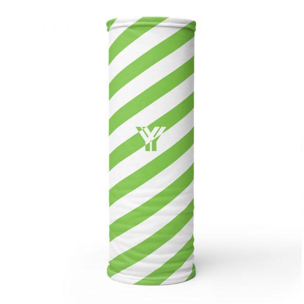 Multifunktionstuch grün weiß schräg gestreift 1 antony yorck multifunktionstuch gruen weiss gestreift schlauchschal streetwear 0014