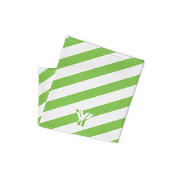 Multifunktionstuch grün weiß schräg gestreift 2 antony yorck multifunktionstuch gruen weiss gestreift schlauchschal streetwear 0034