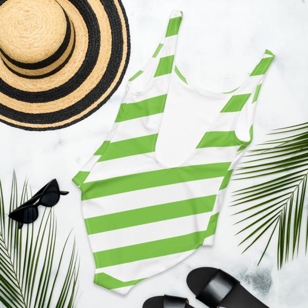 Badeanzug einteilig grün weiß schräg gestreift • collection OBVIOUS 7 antony yorck one piece swimsuit badeanzug swimwear bechwear stripes green white 0018