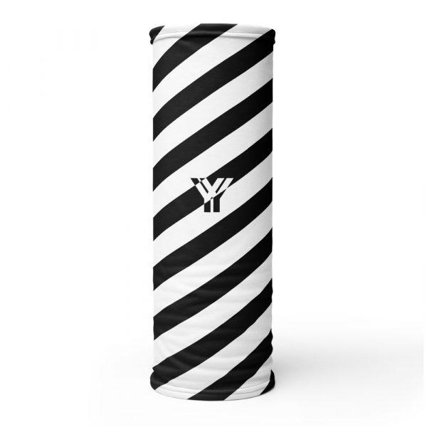 Multifunktionstuch schwarz weiß schräg gestreift 1 antony yorck multifunktionstuch schwarz weiss gestreift schlauchtuch 0014