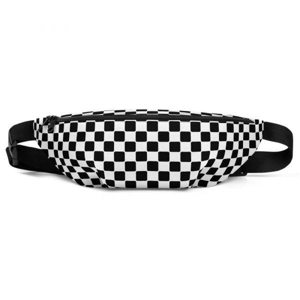 Bauchtasche-schwarz-weiß-checkers-antony-yorck-vorne