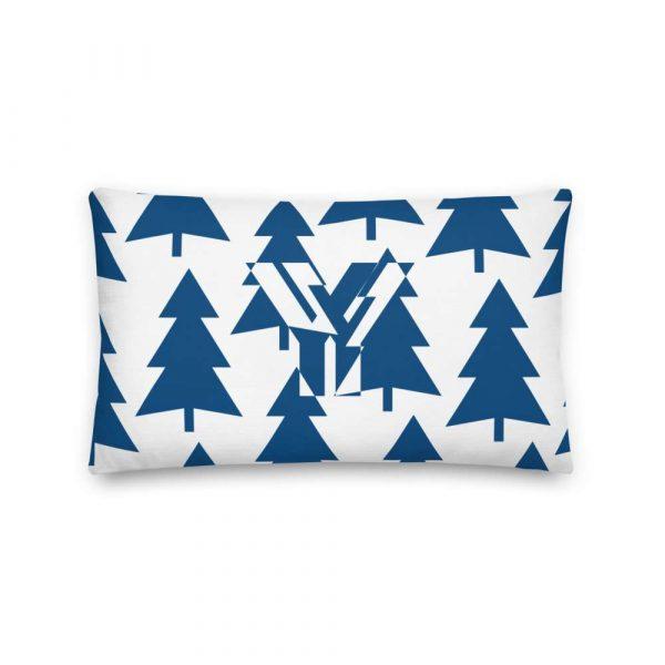 Premium Kissen Tannenbaum blau auf weiß 3 mockup 080820cd