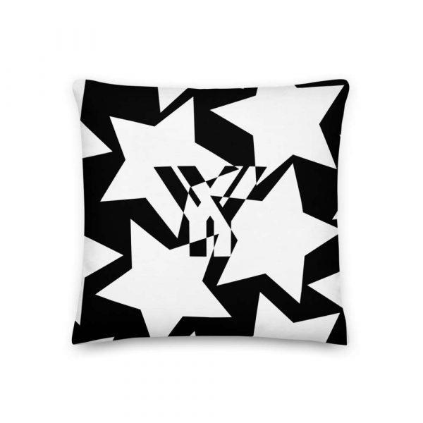 Sofakissen Sterne weiß auf schwarz 1 mockup 0a501177
