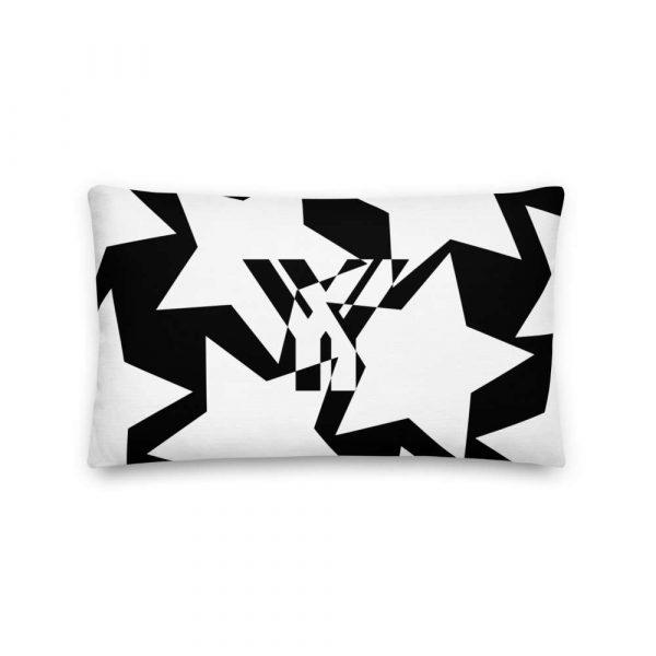 Sofakissen Sterne weiß auf schwarz 3 mockup 0b318c7a