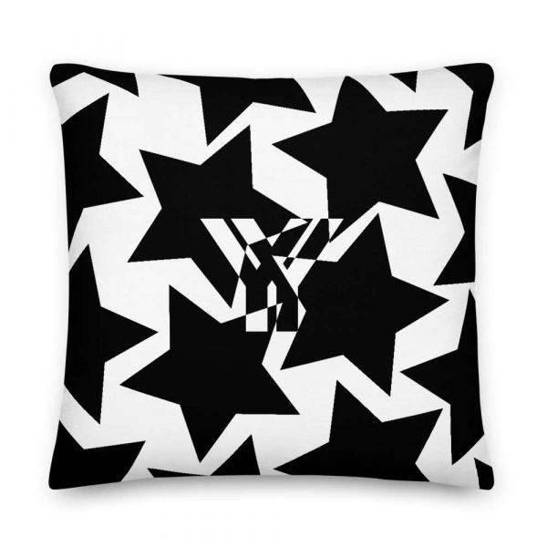Sofakissen Sterne schwarz auf weiß 5 mockup 0b49def4