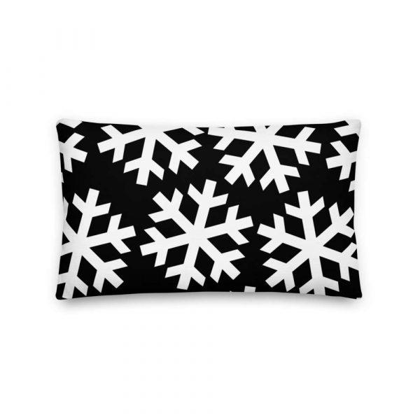 Sofakissen Schneeflocke weiß auf schwarz 4 mockup 0c4906c2