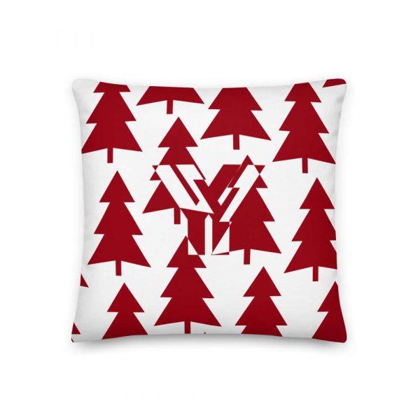 Premium Kissen Tannenbaum rot auf weiß 1 mockup 1198e3a0