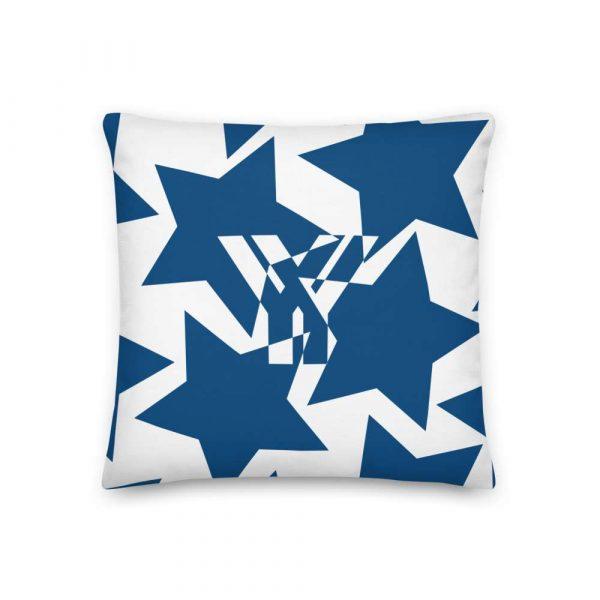 Sofakissen Sterne blau auf weiß 1 mockup 1215c268