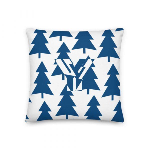 Premium Kissen Tannenbaum blau auf weiß 1 mockup 1b94b94a