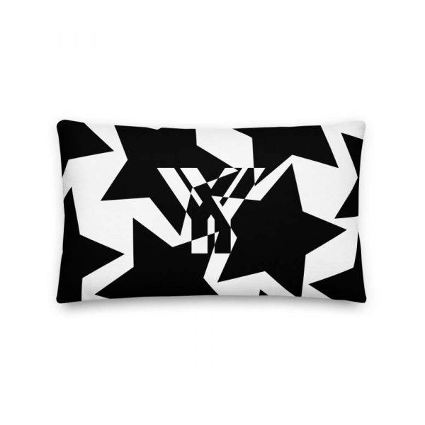 Sofakissen Sterne schwarz auf weiß 3 mockup 246e81ad