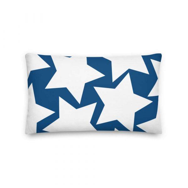 Sofakissen Sterne weiß auf blau Premiumqualität 4 mockup 283210b8
