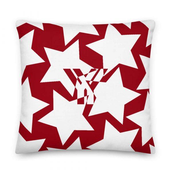 Sofakissen Sterne weiß auf rot 5 mockup 2ab3cea0
