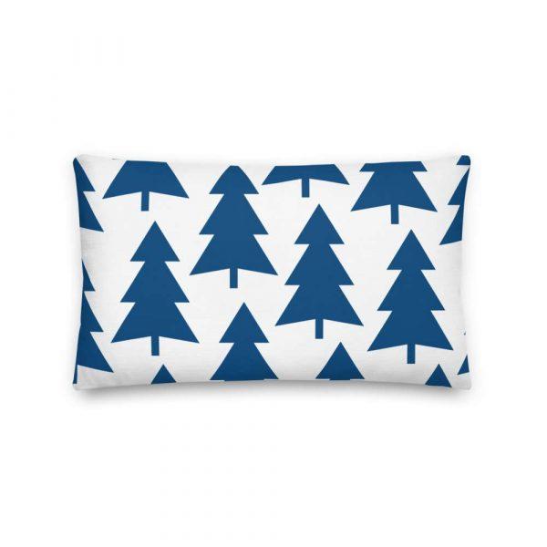 Premium Kissen Tannenbaum blau auf weiß 4 mockup 31cdfc6b