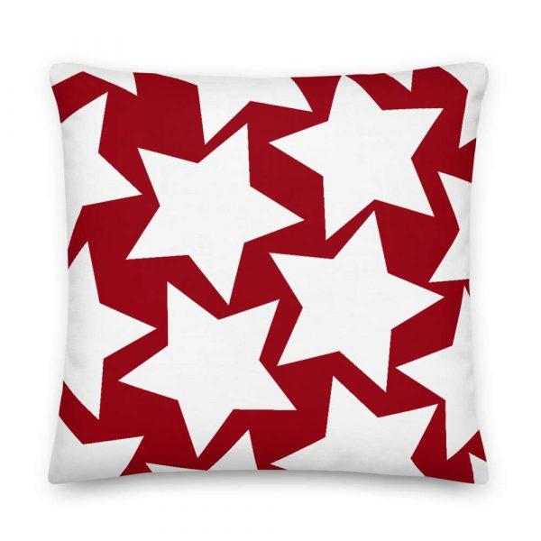 Sofakissen Sterne weiß auf rot 6 mockup 4f42a679