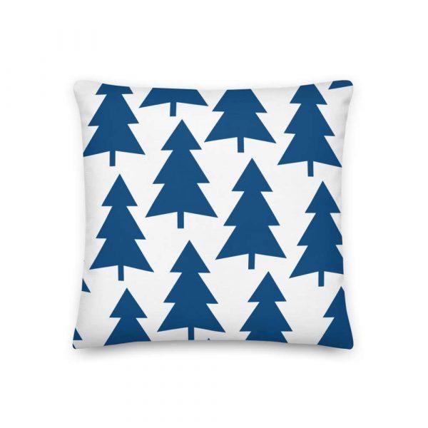Premium Kissen Tannenbaum blau auf weiß 2 mockup 4f81ccfd