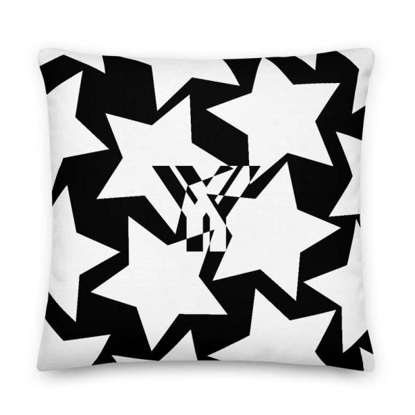 Sofakissen Sterne weiß auf schwarz 5 mockup 592113b1