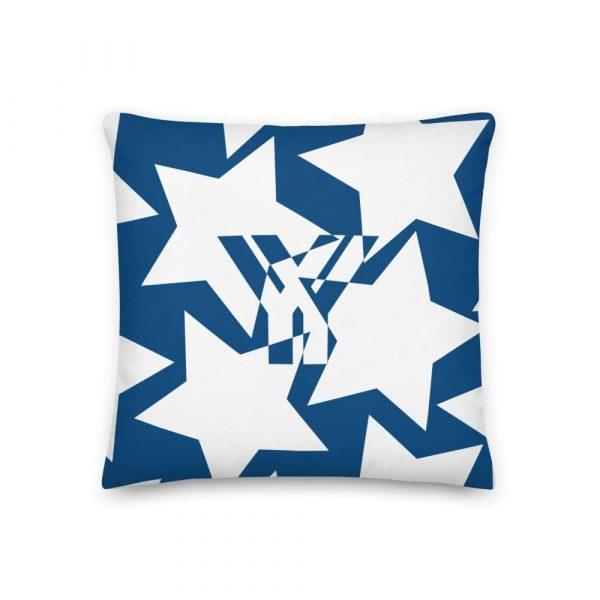 Sofakissen Sterne weiß auf blau Premiumqualität 1 mockup 5b4cffc1