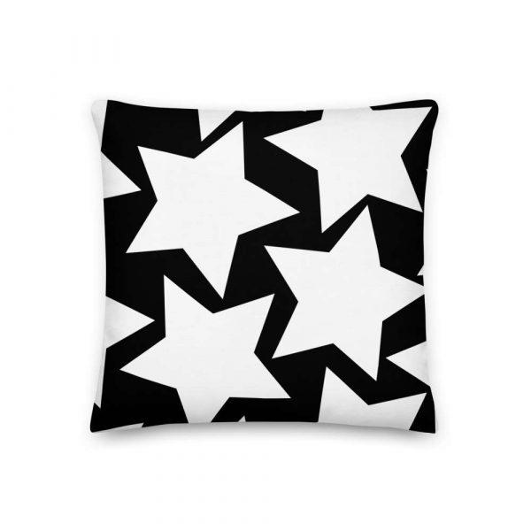 Sofakissen Sterne weiß auf schwarz 2 mockup 6d443e4b
