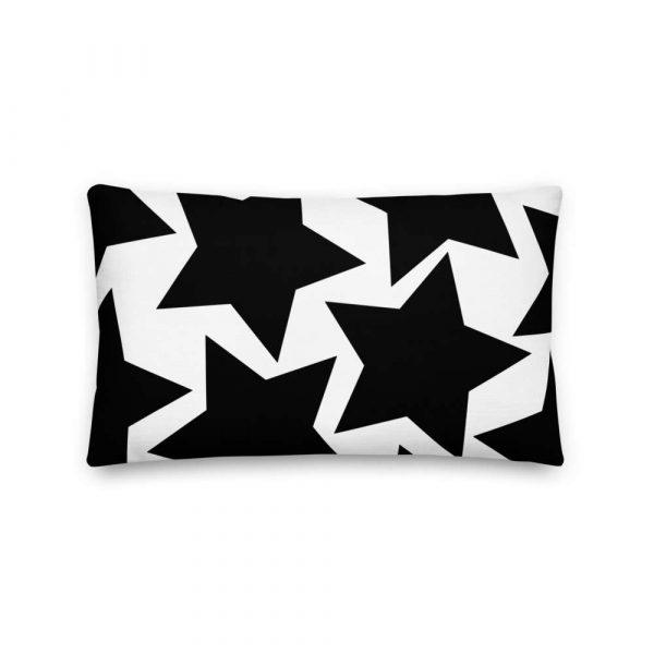 Sofakissen Sterne schwarz auf weiß 4 mockup 6d84d56a