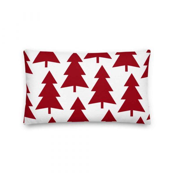 Premium Kissen Tannenbaum rot auf weiß 4 mockup 6ef39ebe