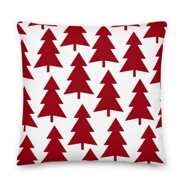 Premium Kissen Tannenbaum rot auf weiß 6 mockup 72147695