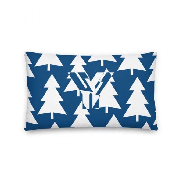 Premium Kissen Tannenbaum weiß auf blau 3 mockup 784c6952