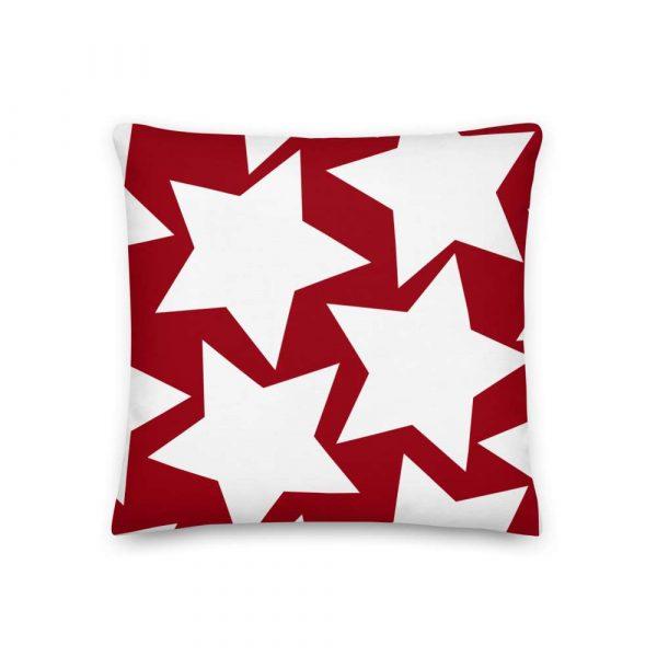 Sofakissen Sterne weiß auf rot 2 mockup 7d055067