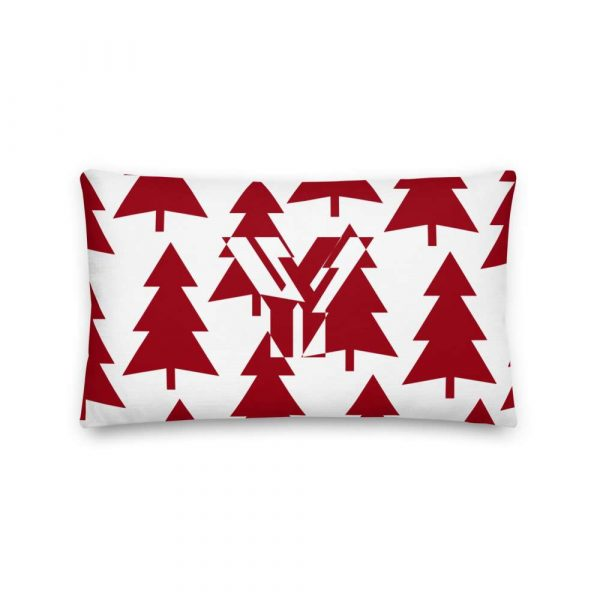 Premium Kissen Tannenbaum rot auf weiß 3 mockup 80f1a413