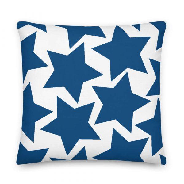 Sofakissen Sterne blau auf weiß 6 mockup 82b92632