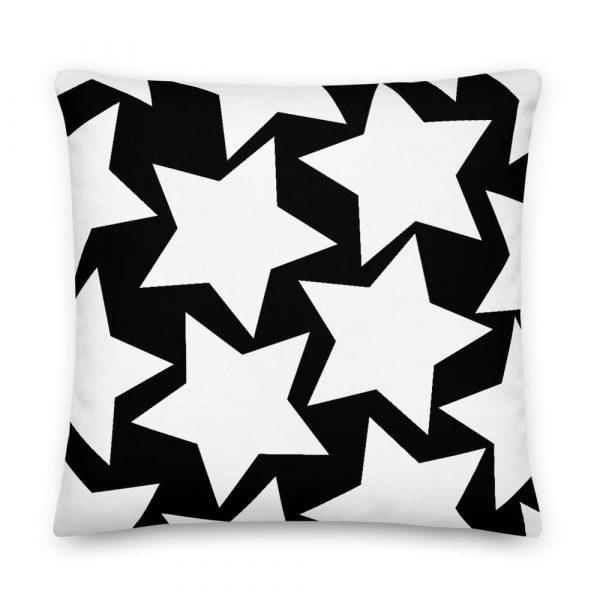 Sofakissen Sterne weiß auf schwarz 6 mockup 904f4c29