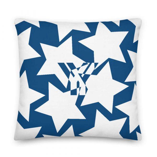 Sofakissen Sterne weiß auf blau Premiumqualität 5 mockup 964f8730