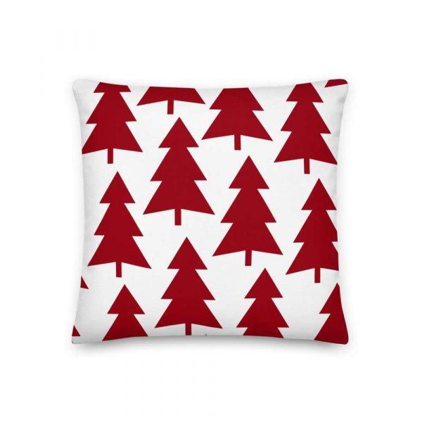 Premium Kissen Tannenbaum rot auf weiß 2 mockup 9c066e25
