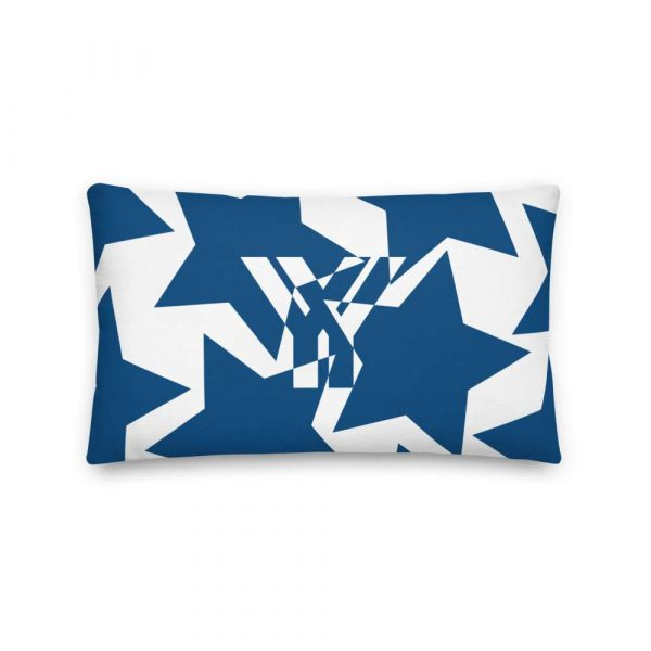 Sofakissen Sterne blau auf weiß 3 mockup af147695
