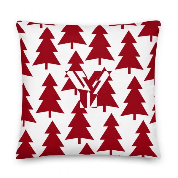 Premium Kissen Tannenbaum rot auf weiß 5 mockup b57dbcaa