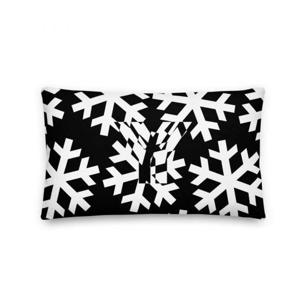 Sofakissen Schneeflocke weiß auf schwarz 3 mockup c3cac1d3
