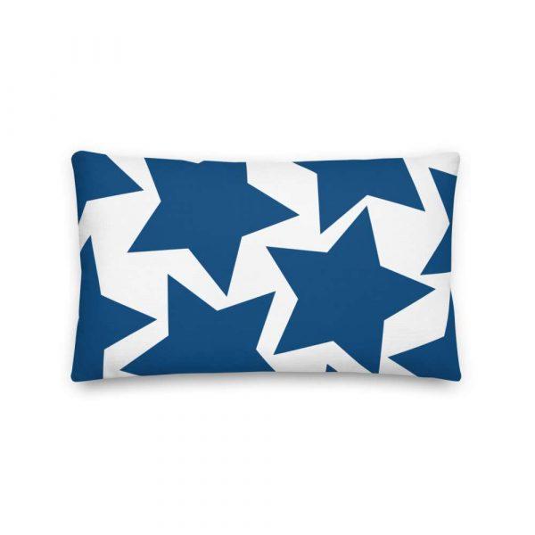 Sofakissen Sterne blau auf weiß 4 mockup c4f46ea3